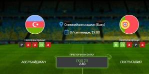 Прогноза: Азербайджан - Португалия 07/09/2021 - Квалификационен мач за Мондиал 2022