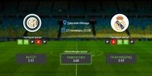 Прогноза: Интер - Реал Мадрид 25/11/2020 - Шампионска лига