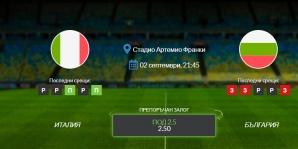 Прогноза: Италия - България 02/09/2021 - Квалификационен мач за Световното първенство