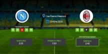 Прогноза: Наполи-Милан 12/07/2020 - Серия А