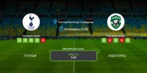 Прогноза: Тотнъм - Лудогорец 26/11/2020 - Лига Европа
